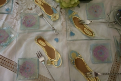 Every girl wants to be a princess for a day - The Glass Slipper cake plates.